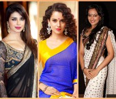 Bolly Divas in Georgette Sarees