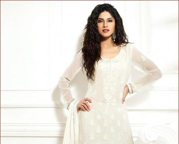 Elegant Off White Salwar Kameez
