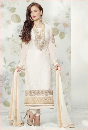 Graceful Off White Salwar Kameez