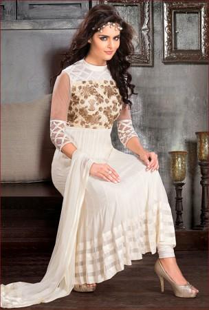 Flamboyant Off White Salwar Kameez