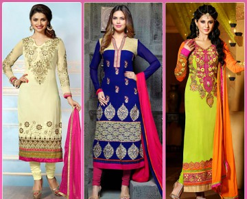 Straight Cut Salwar Kameez : The New Ethnic Trend