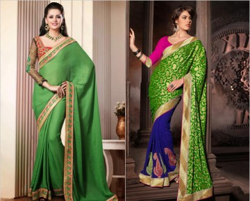 Gorgeous Green Sarees