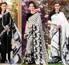 Black and White Sarees