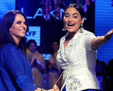 Designer Anita Dongre With Sonakshi Sinha