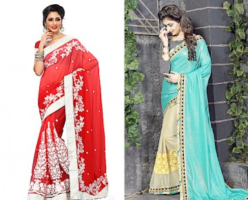 Soft Net and Georgette Jacquard Saree
