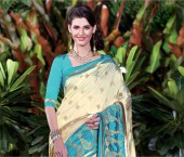 Dupioni Raw Silk Saree