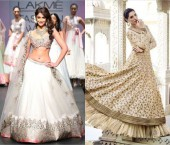 Actresses in White Lehenga Choli