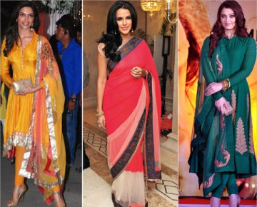 Bollywood Celebrities in Ethnic Wear