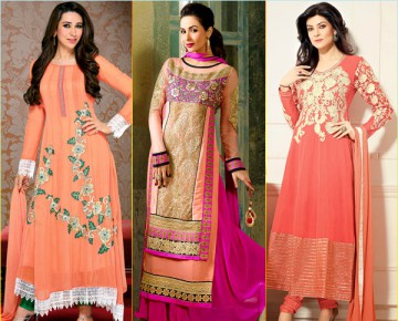Celebrities in Peach Salwar