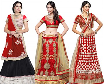 Red Soft Net Lehenga Choli
