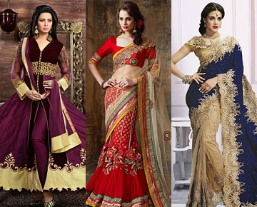 Indian Ethnic Wear in Different Fabrics