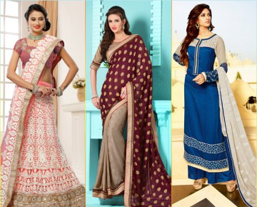 Indian Ethnic Wear in Dominant Colours