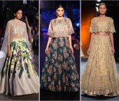 Ethic Crop Tops with Lehengas