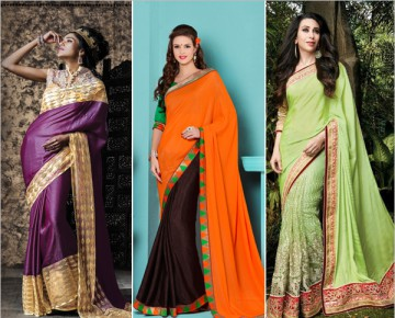 Sarees with Plain Pallu