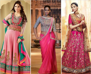 Dresses in Pink Colour