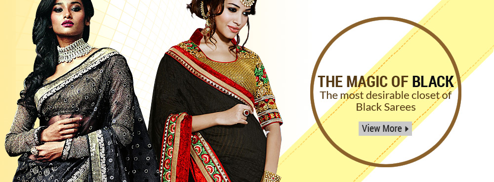 The Magic of Black The Most Desirable Closet of Black Sarees