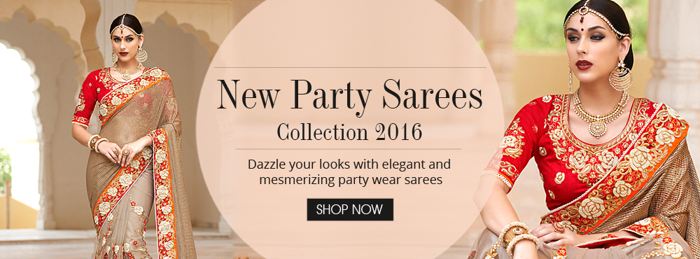 New Party Sarees Collection 2016