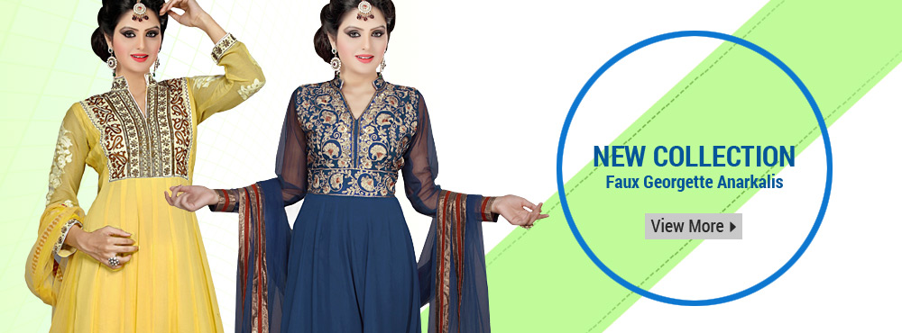 New Collection Faux Georgette Anarkalis