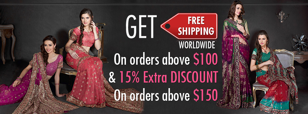 Get free shipping worldwide on order above $100 and 15% extra discount on order above $150