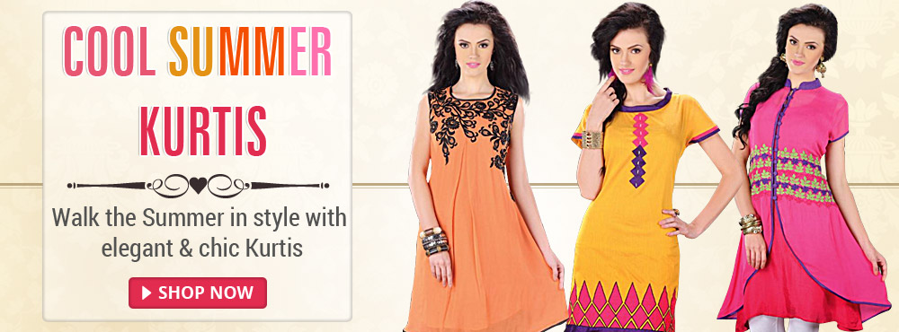 Cool Summer Kurtis-Walk the Summer in style with elegant & chic Kurtis