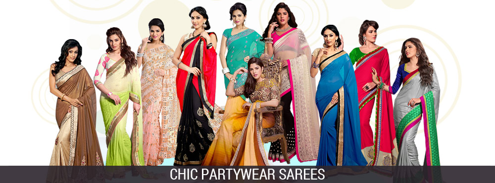Chic Partywear Sarees